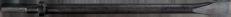 Flachmeißel R 10,3x36 NL 250 x 15mm DIN 8530