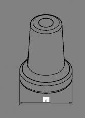 Stahlstampffuß Ø 40 mm Aufnahme MK 2