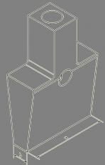 Stahlstampffuß rechteckig 70x15mm Aufnahme MK 2